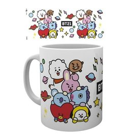Hole In The Wall mok - BT21 - group (white)