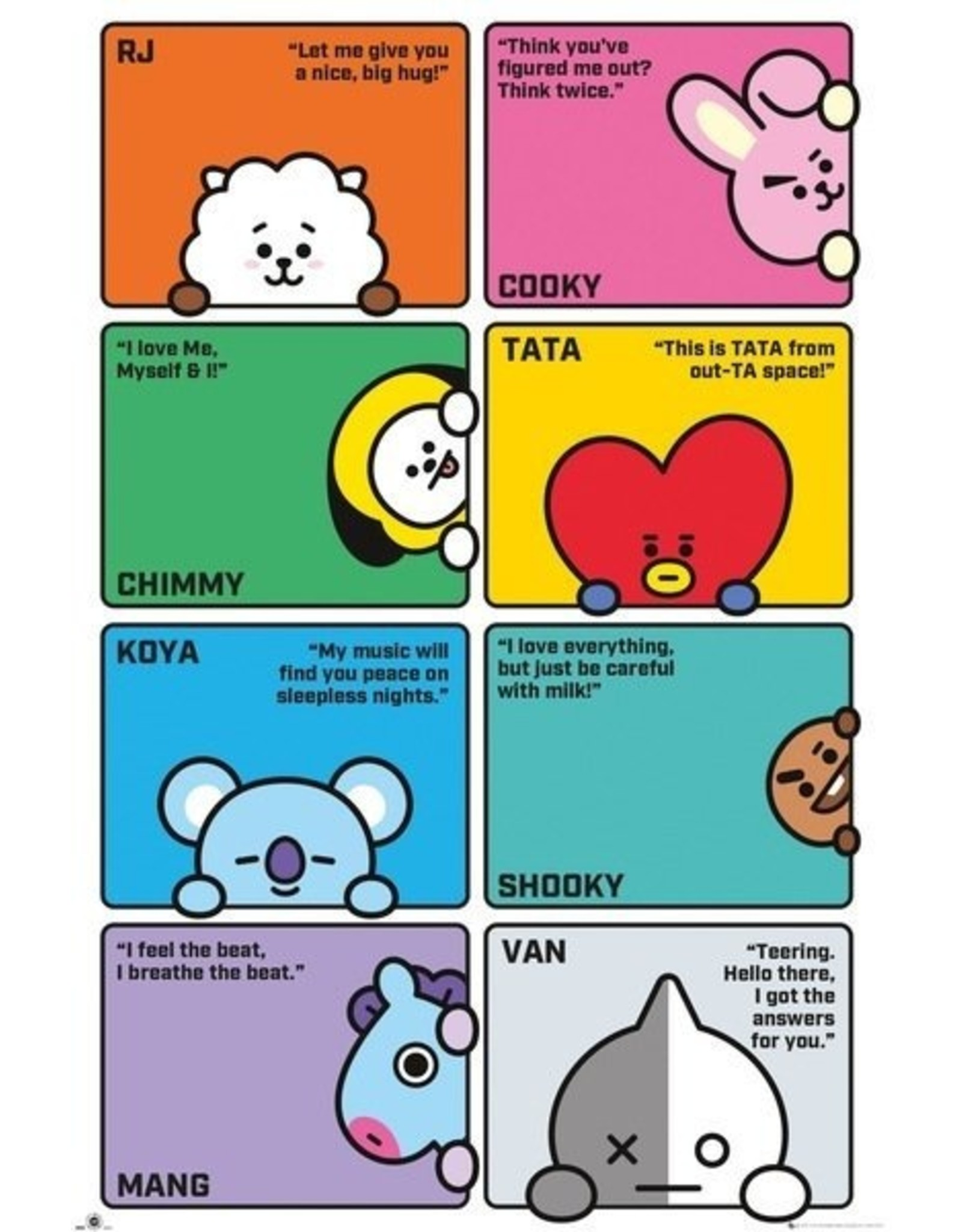 poster BT21 - Characters