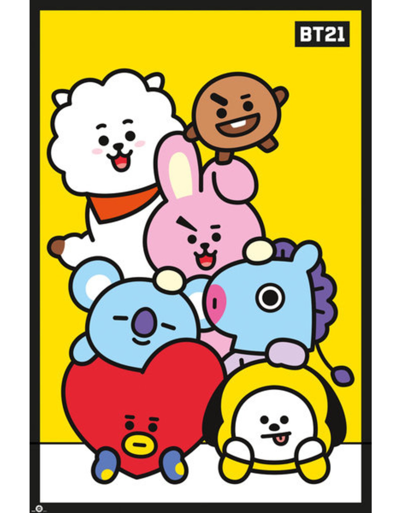 Hole In The Wall poster BT21 - Yellow
