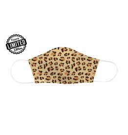 Fisura herbruikbaar mondmasker - cheetah (brown)