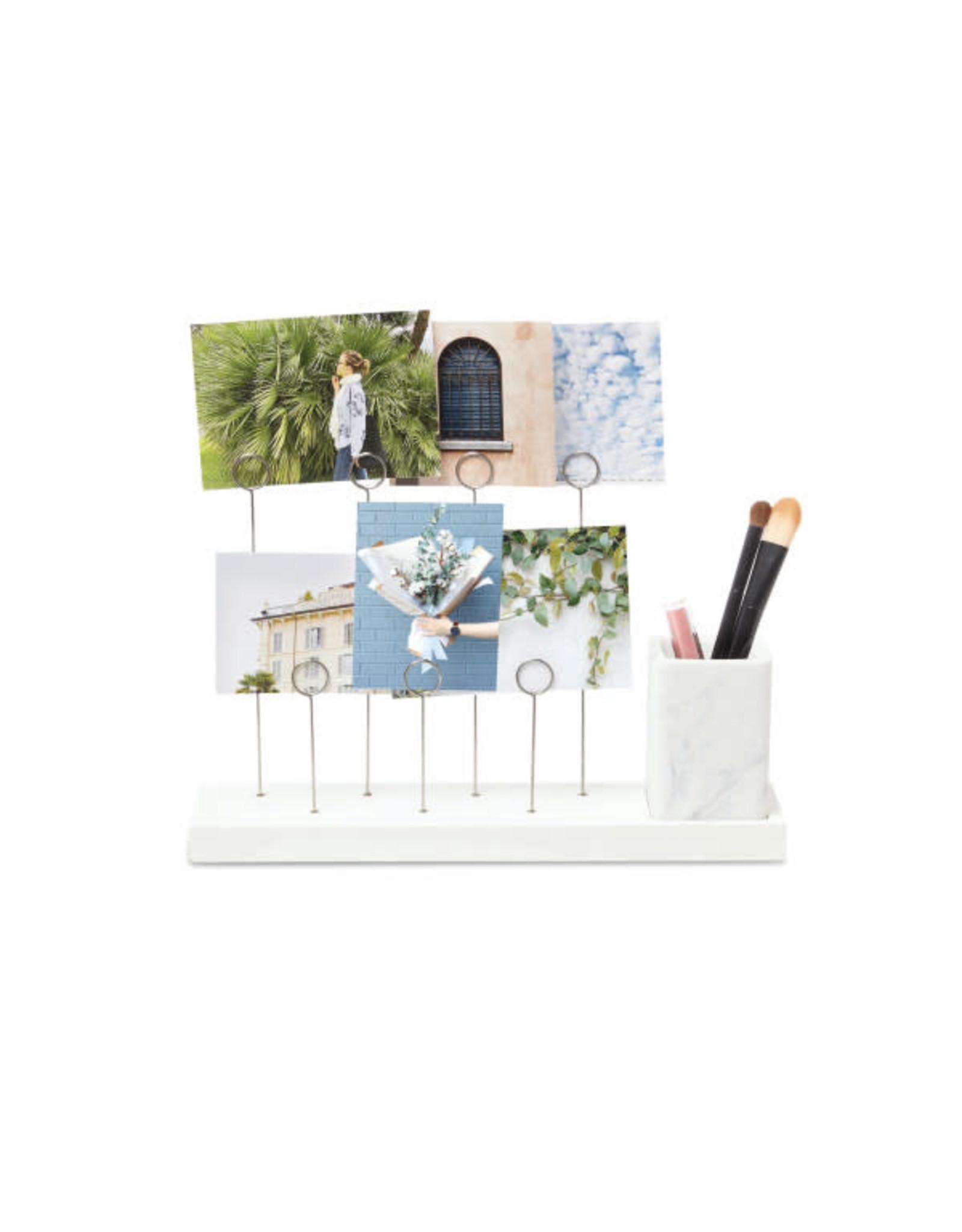 Umbra Gala photo display & pen holder (marble/white)