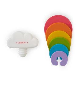 Legami flessenstop en glasmarkers - regenboog