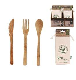 herbruikbaar bamboe bestek
