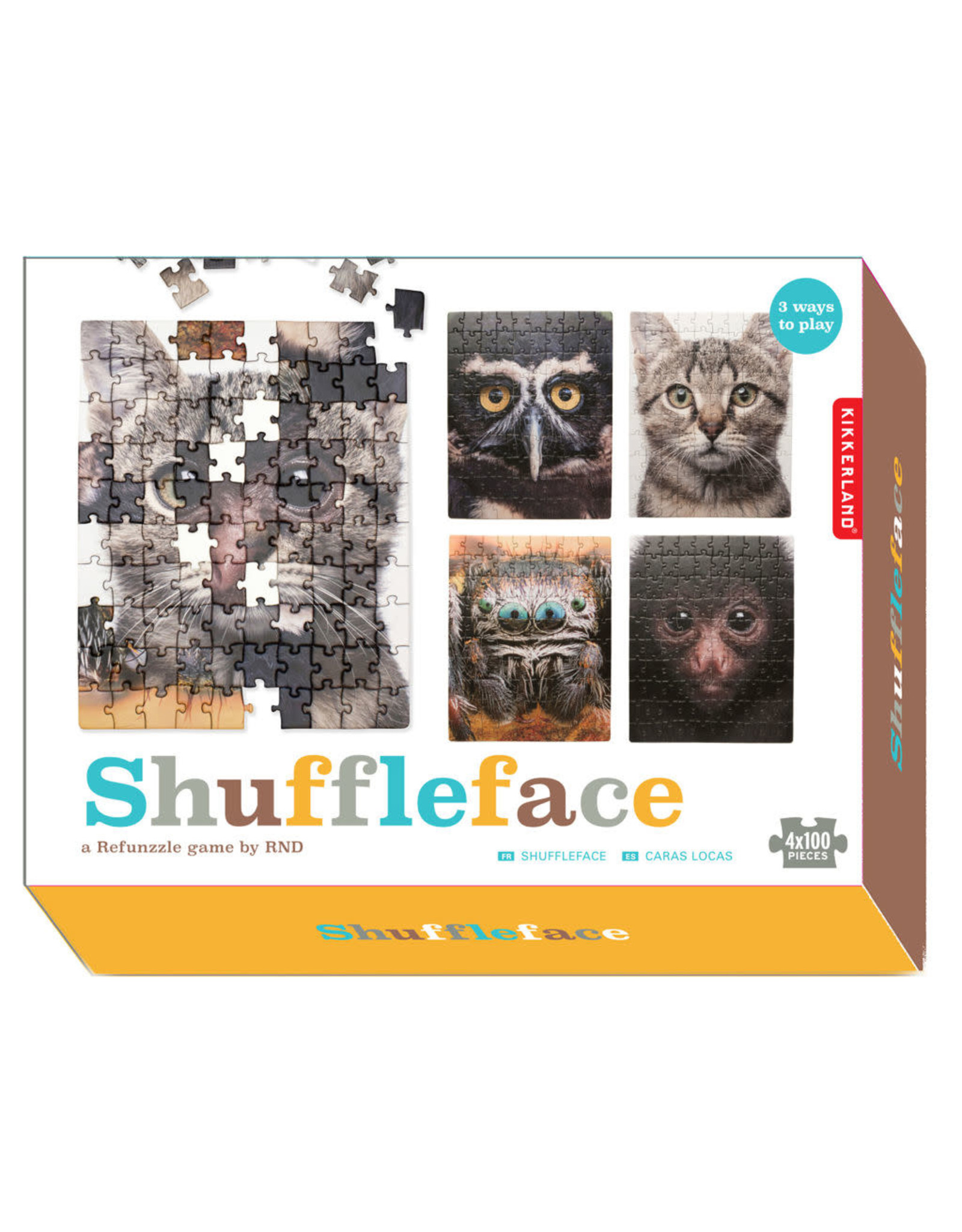 5 in 1 Shuffle face puzzle