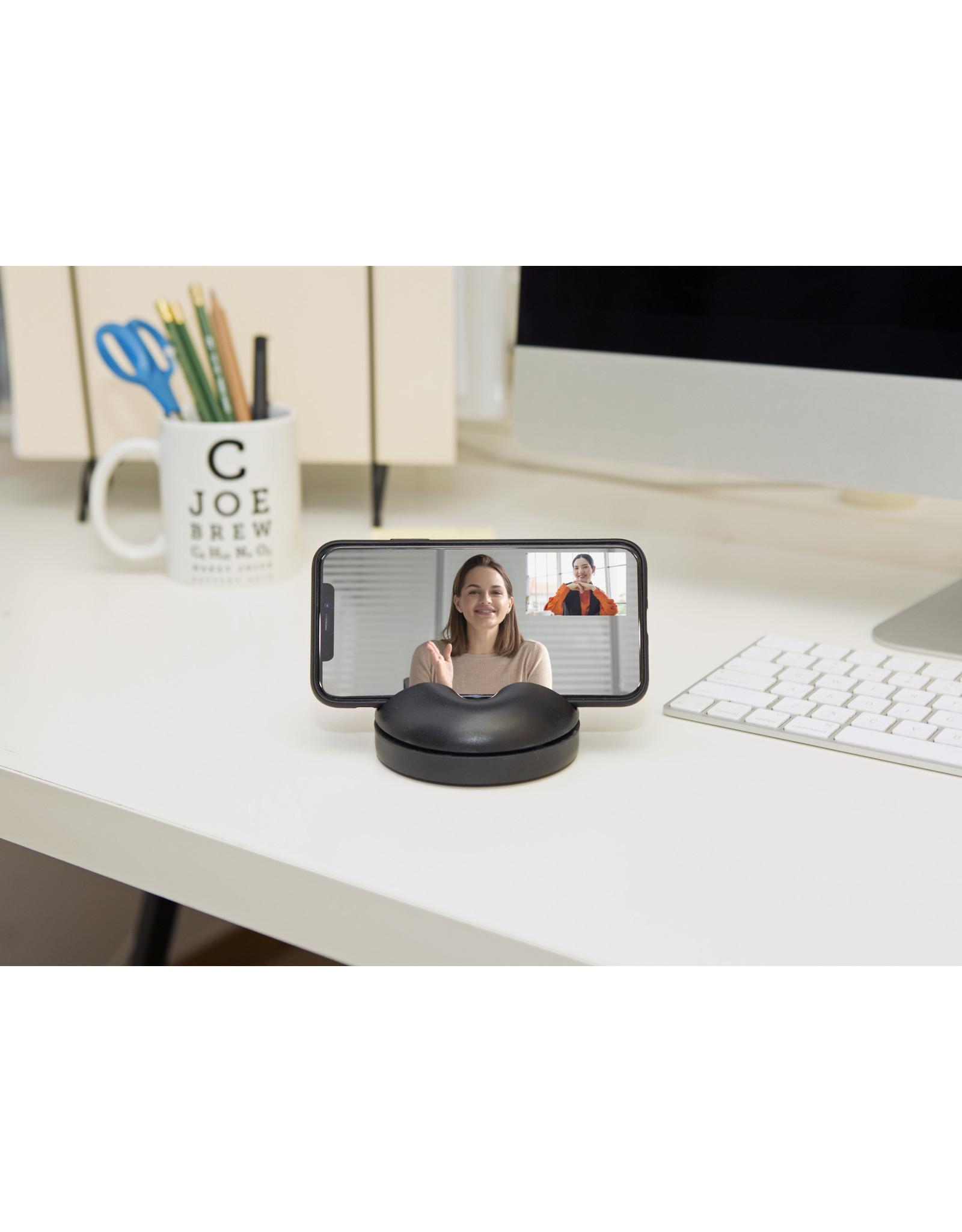 360° rotating phone stand - black