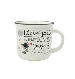 Legami puccino mug - I love you to the moon and back