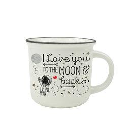 Legami puccino mug - I love you to the moon and back