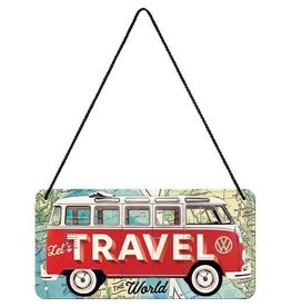 Nostalgic Art hanging sign - let's travel the world