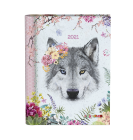 Lannoo diary 2021 - wired - gingerbread (wolf)