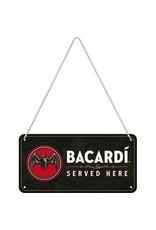 metal hanging sign - bacardi