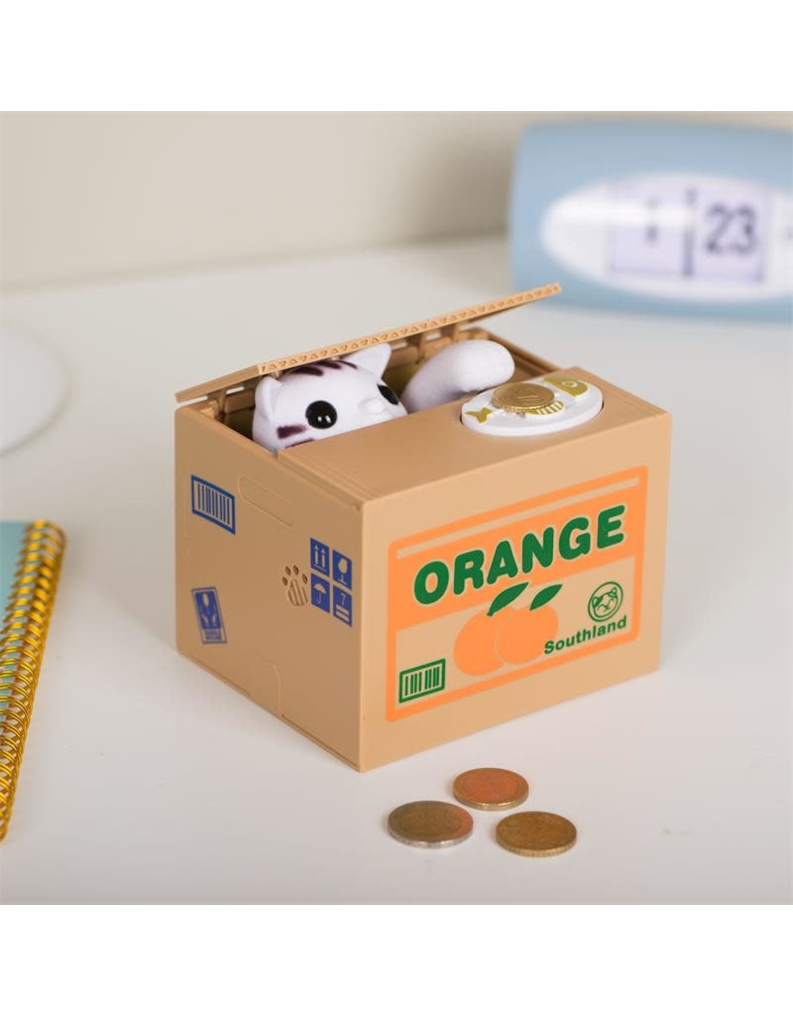 moneybox - cat in a box