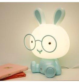 nachtlampje - konijn (blauw)