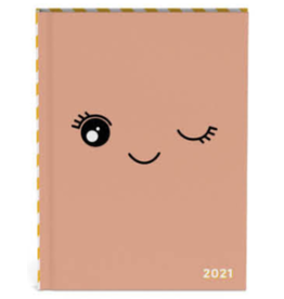 Lannoo agenda 2021 - bubble cute (roze)