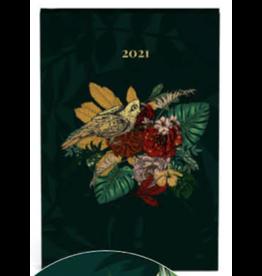 Lannoo agenda 2021 - pocket - botanic (groen)