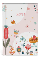 Lannoo agenda  2021 - pocket - bloemen (roze)