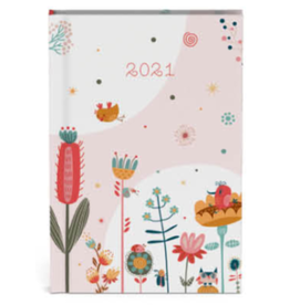 Lannoo diary 2021 - pocket - fragile  (pink)