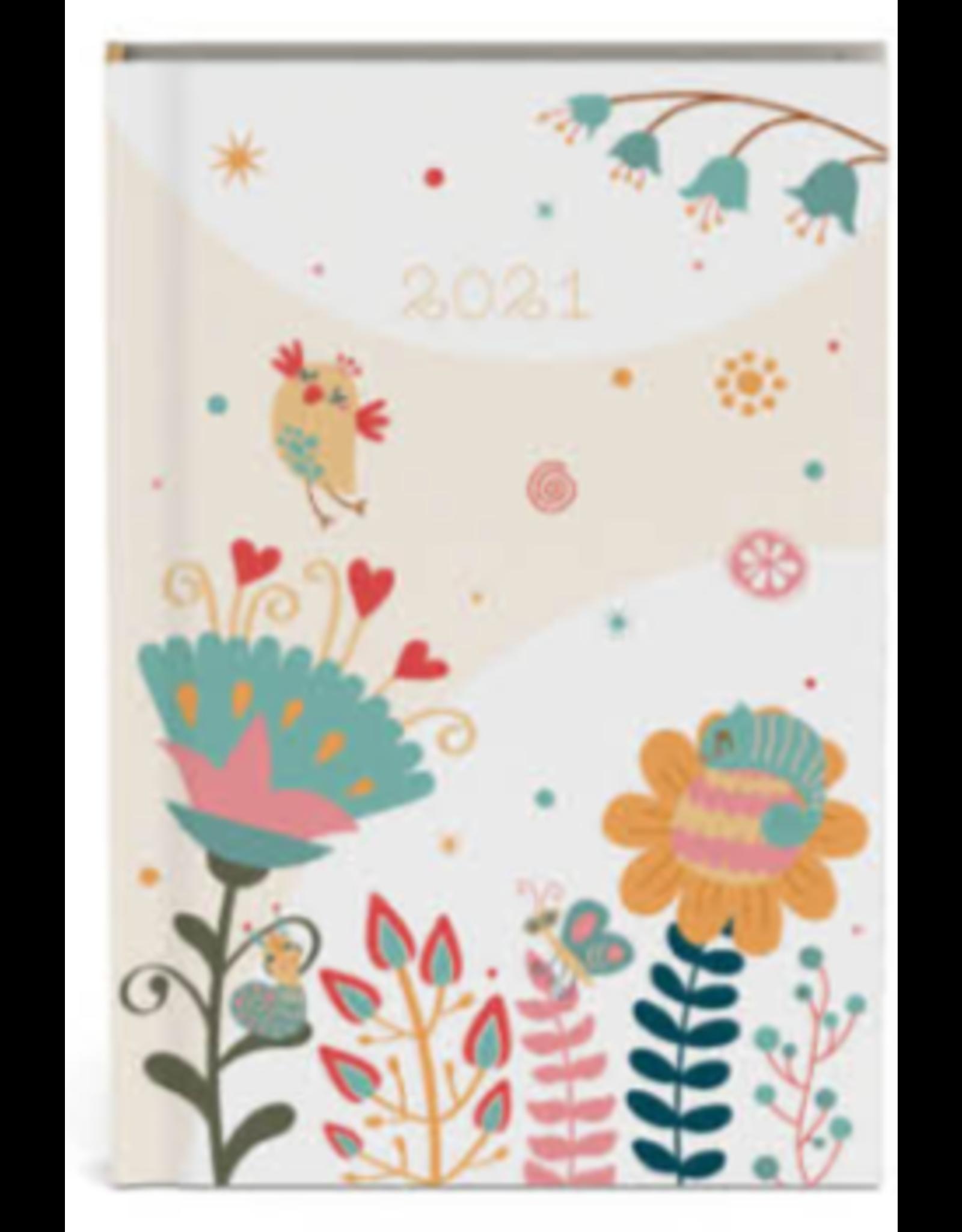 Lannoo agenda 2021 - pocket - bloemen (nude)