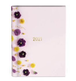 Lannoo diary 2021 - wired - flowers (pink)