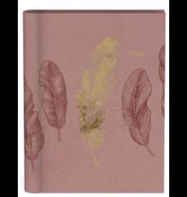 Lannoo agenda 2021 - spiraal - midnight gold (roze)