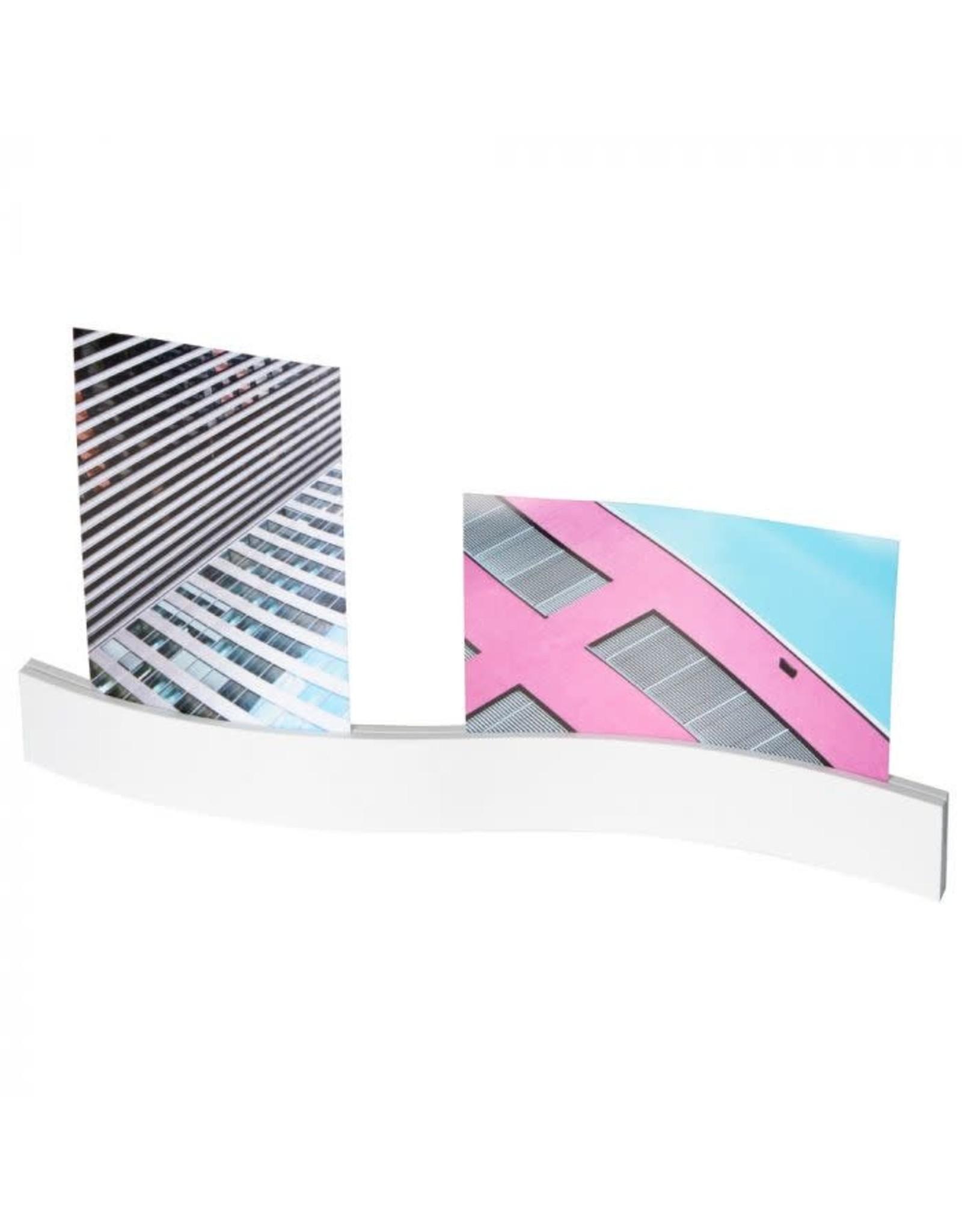 photo holder - wave (white)