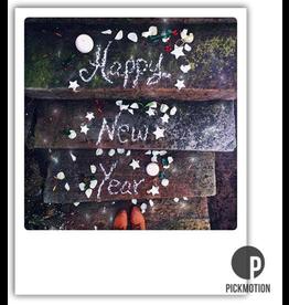 New Year card - polaroid