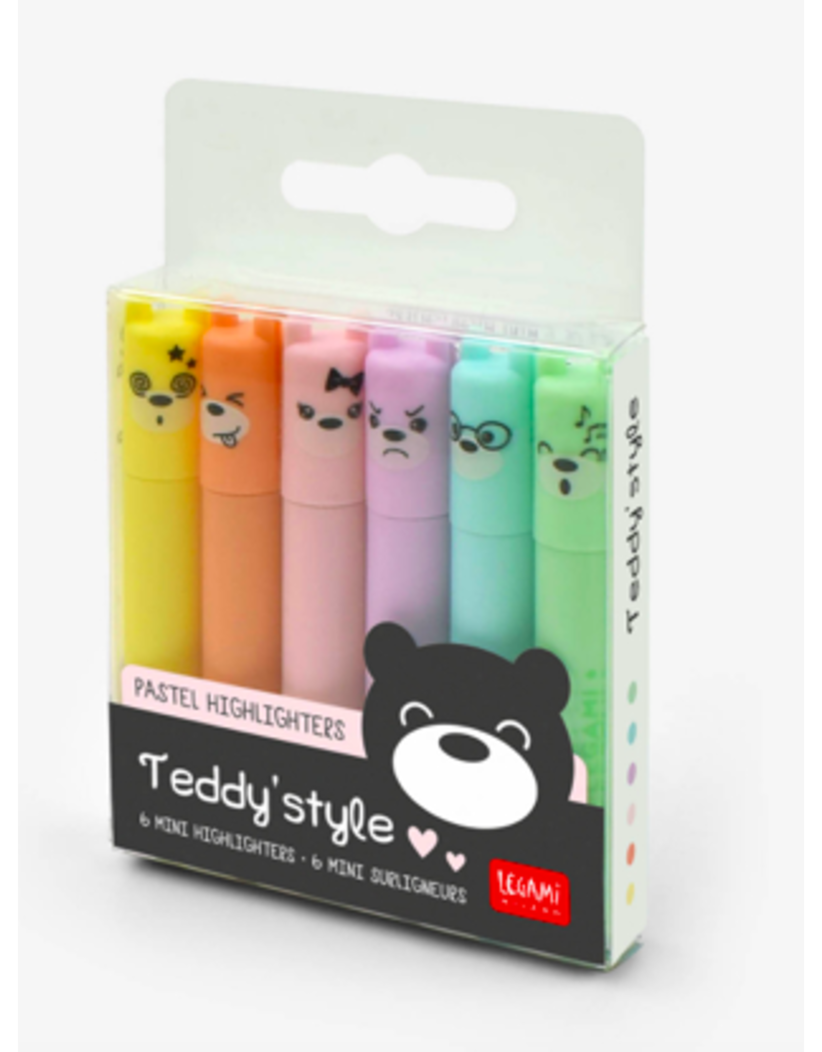 Legami highlighters - Teddy's style (6pcs)