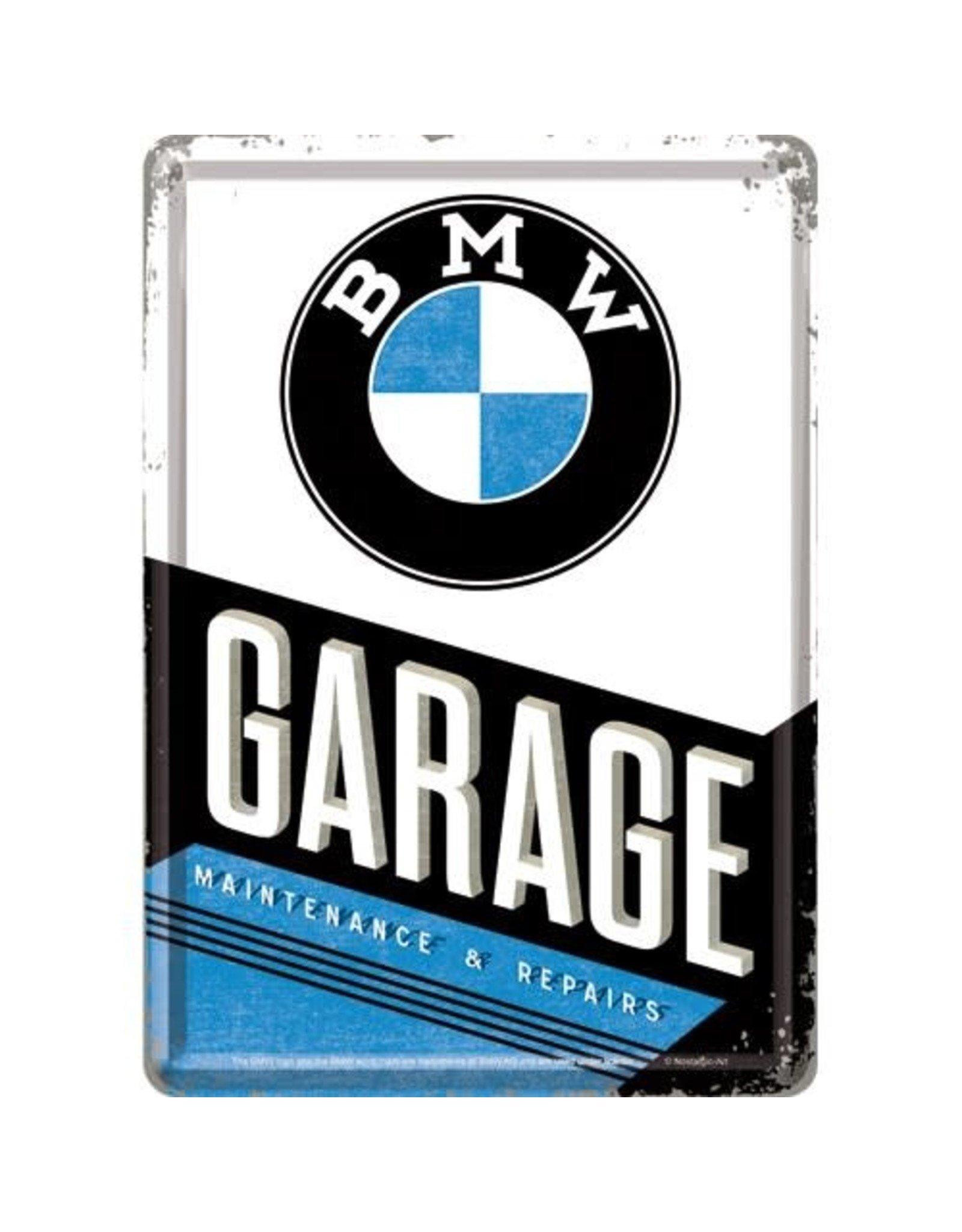 metal card - BMW garage