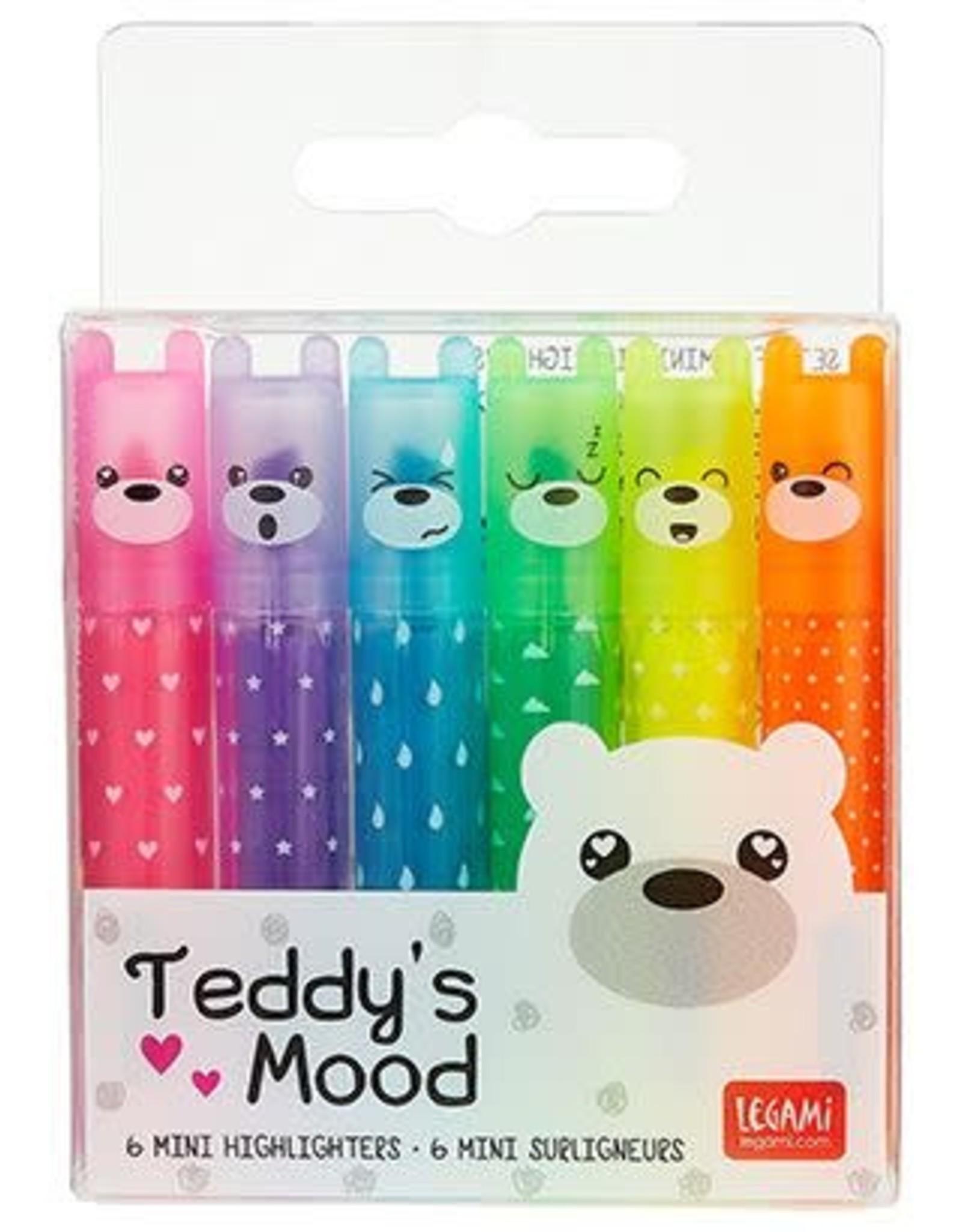 Legami highlighters - Teddy's mood (6pcs)