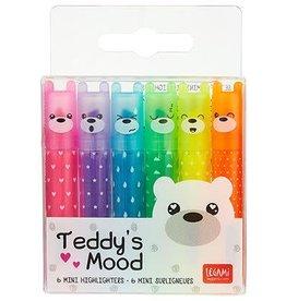 Legami highlighters - Teddy's mood (6 stuks)
