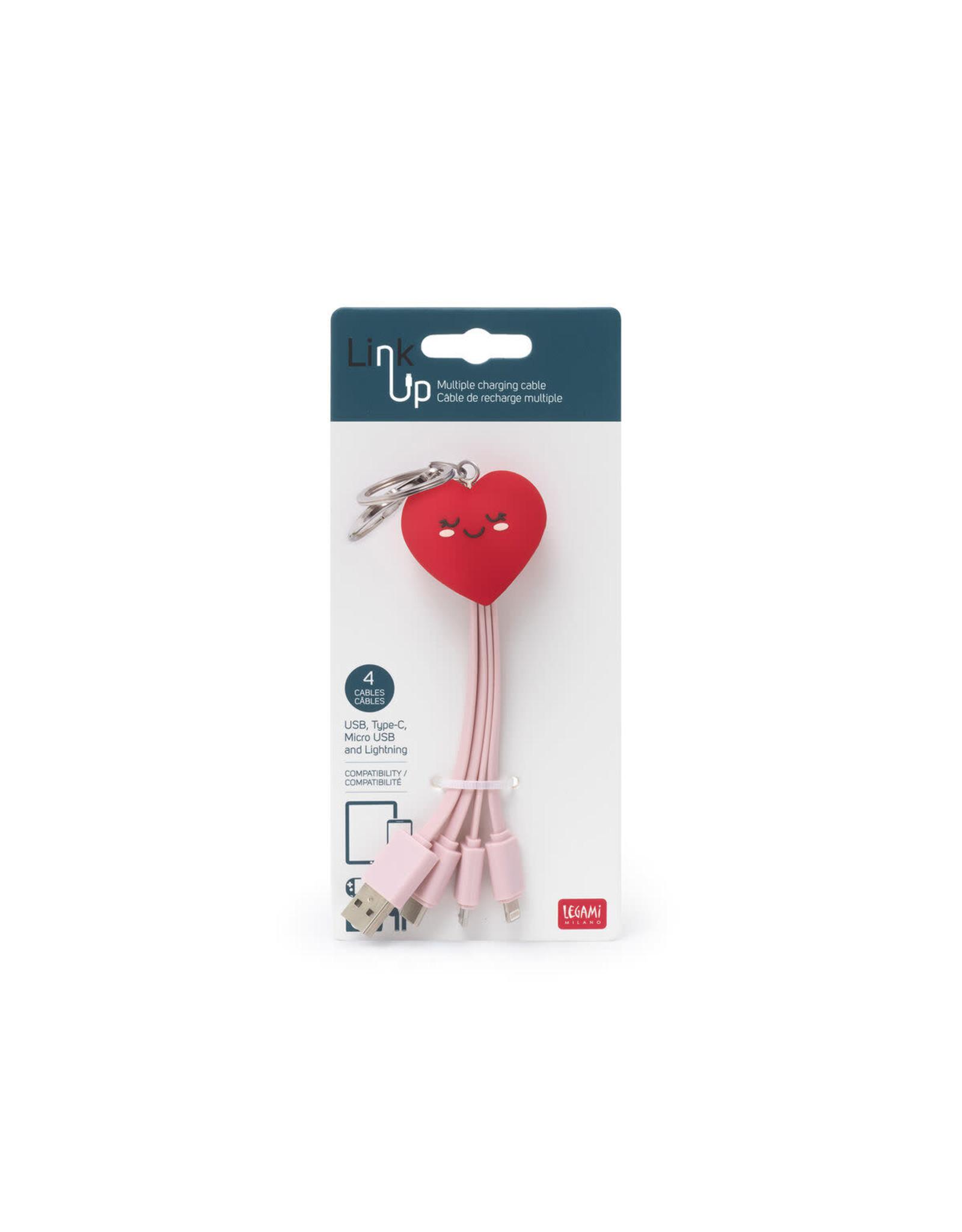 Legami charging cables - heart