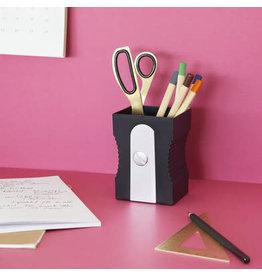 pen holder - sharpener (black)
