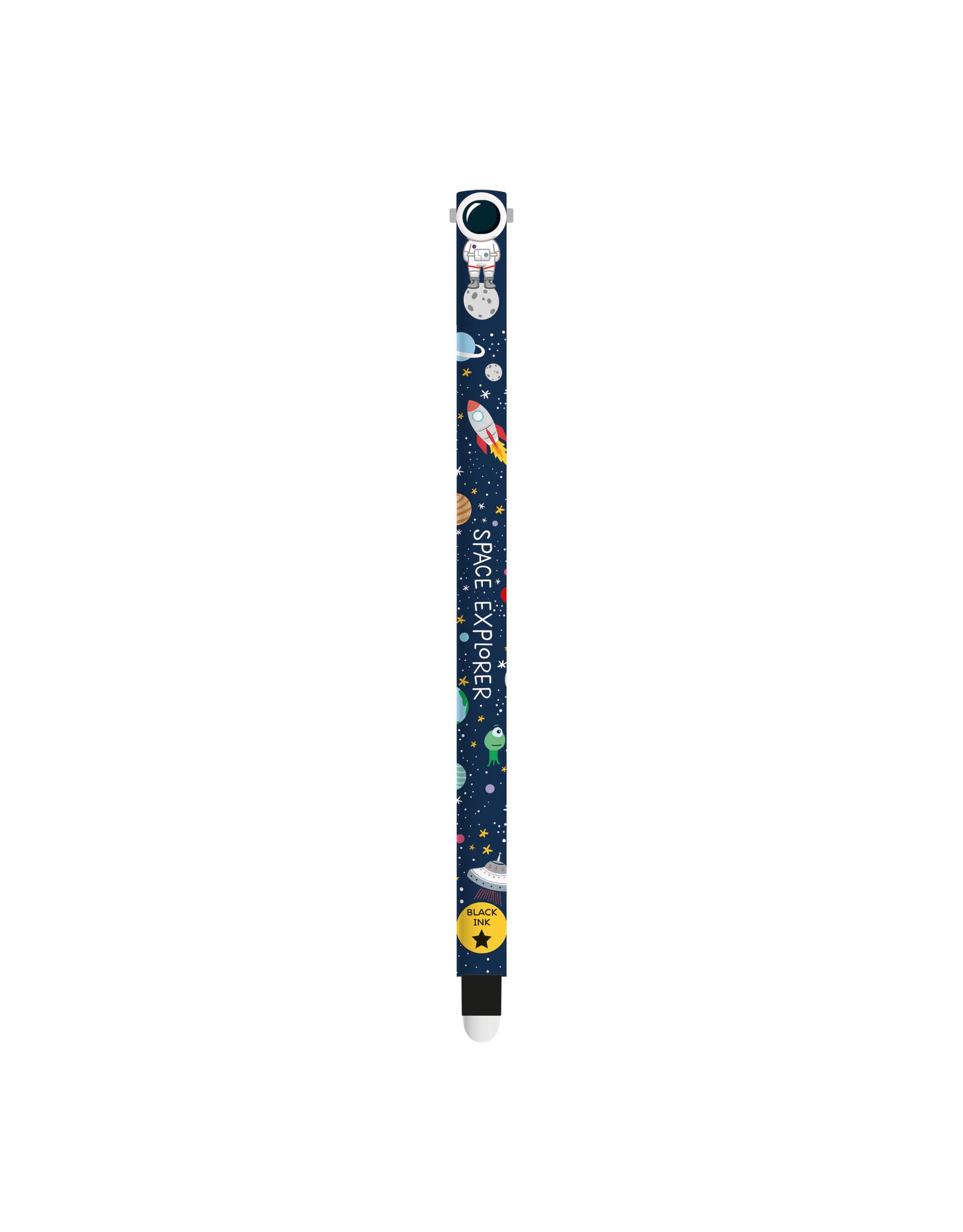 Legami erasable pen with black ink (space)