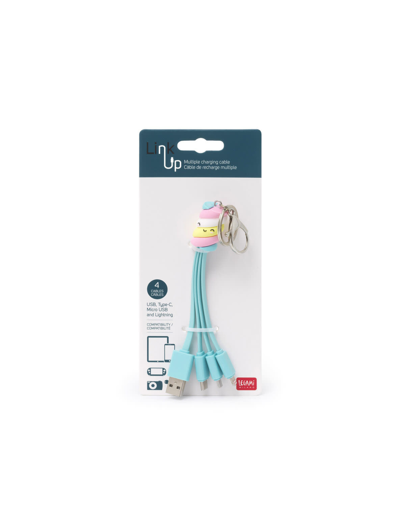 Legami charging cables - marshmallow