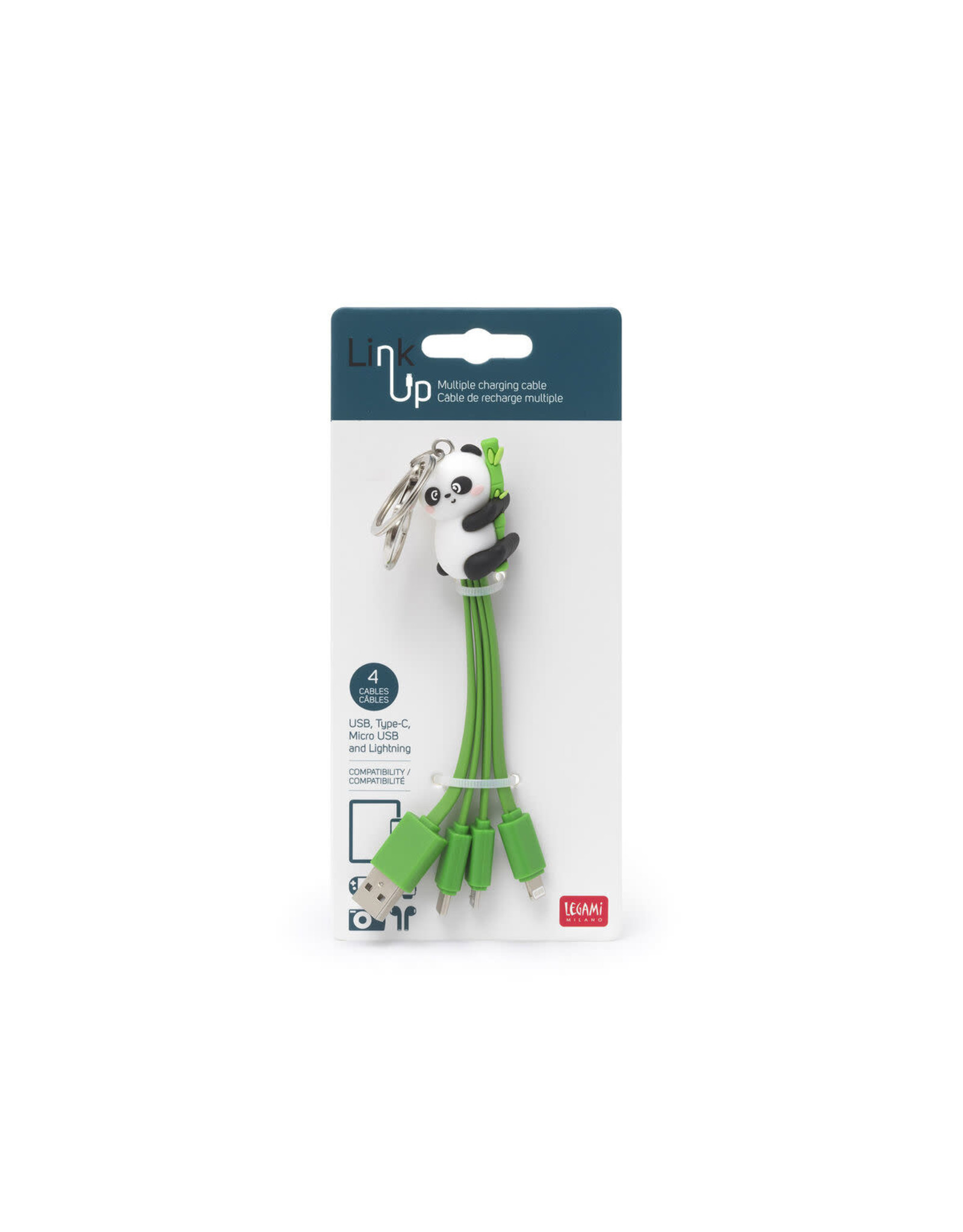 Legami charging cables - panda