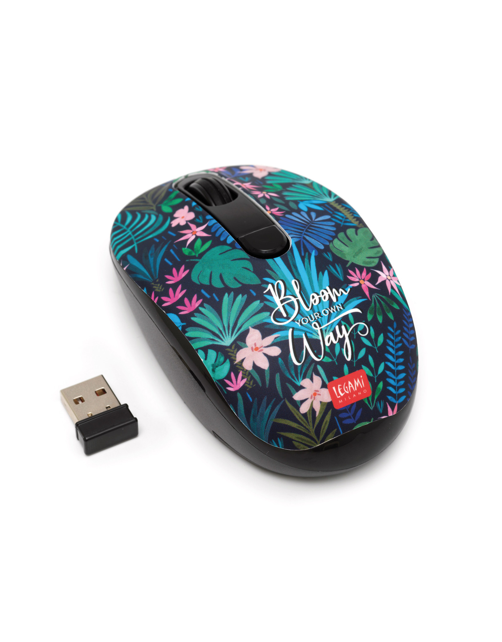 wireless mouse with floral print