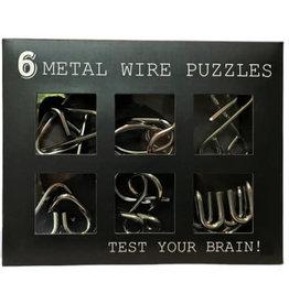 puzzel - metalen braintrainer (6pcs)