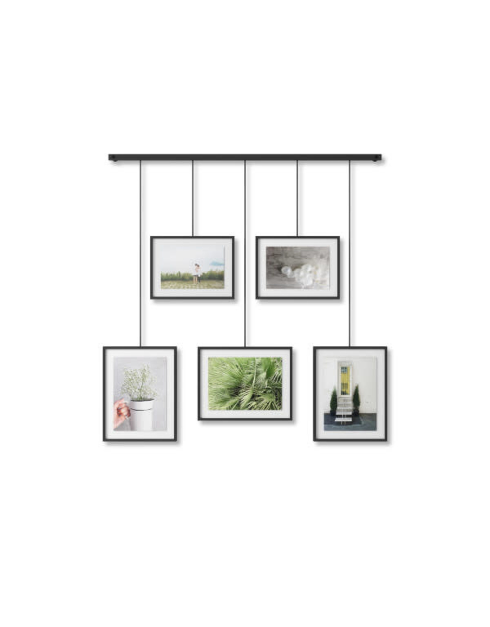 5 connected photo frames (black)