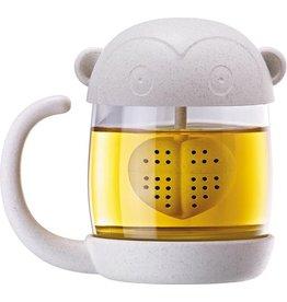 mug/tea infuser - monkey/heart