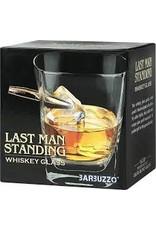 Barbuzzo whiskey glass - last man standing