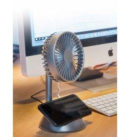 wireless charging desk fan (grey)