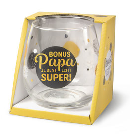 wijn-/waterglas - bonus papa