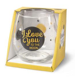 wijn-/waterglas - I love you