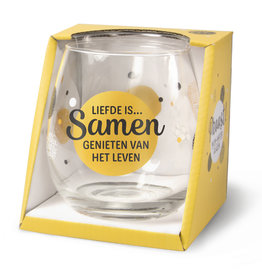 wine/water glass - liefde is…