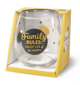 wine/water glass- family rules