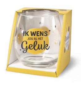 wijn-/waterglas - geluk