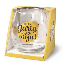 wine/water glass - ik ben jarig