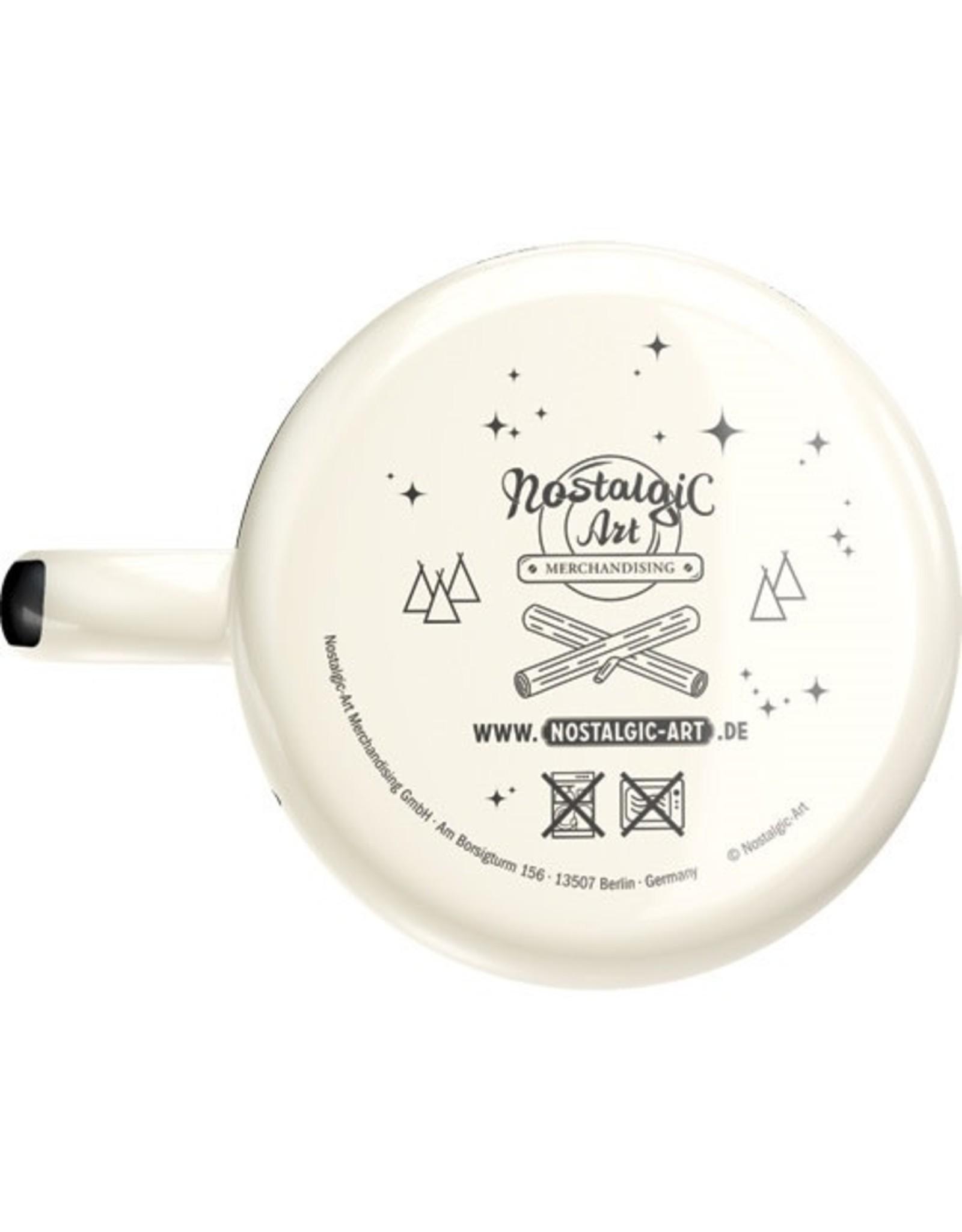 enamel mug with mountains print