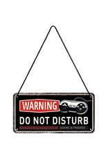 metal hanging sign - warning