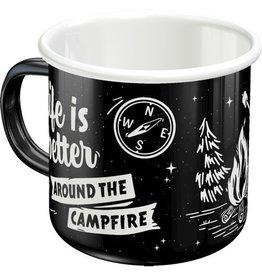 enamel mug - life is better(4)