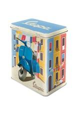 "tin box (medium) with print ""Vespa"""